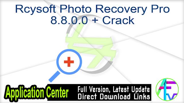 Rcysoft Photo Recovery Pro 8.8.0.0 + Crack