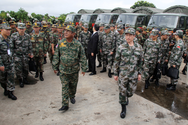 Dragon d'Or : Exercices militaires sino-khmers à Kampong Speu