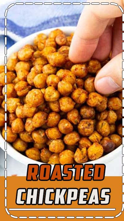 These roasted chickpeas make the perfect vegan snack or vegan party food! They're perfectly seasoned, a bit spicy, and super easy to prepare. One of my favorite vegan recipes for snacking! #vegan #veganrecipes #partyfood