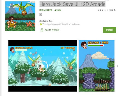 Hero Jack Save Jill 2D Arcade - Download PreHistorik 2 for Android