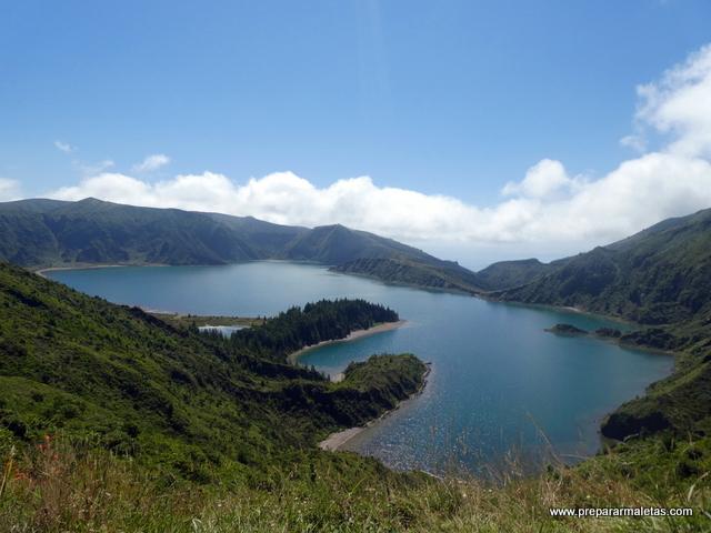 vistas de los miradores de la Lagoa do Fogo