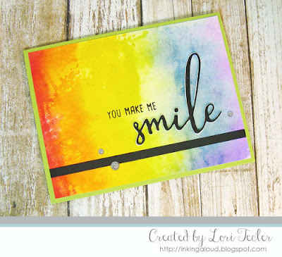 You Make Me Smile-created by Lori Tecler/Inking Aloud-stamps and dies from Honey Bee Stamps
