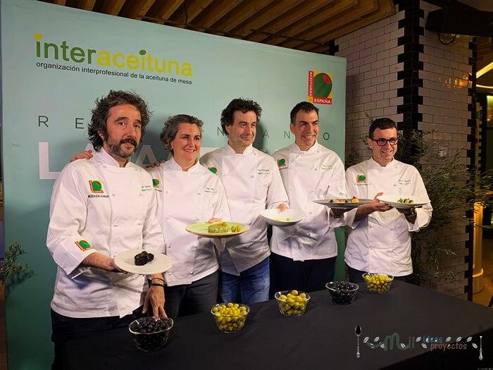 5 chefs retan a 40 chefs a reinventar la aceituna