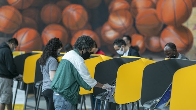 US ELECTIONS; Early US voting surpasses 2016, 9 days before election-AFP