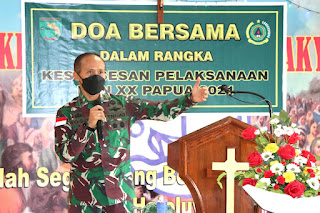 Sambut PON XX, Kodam XVII/Cenderawasih Gelar Doa Bersama