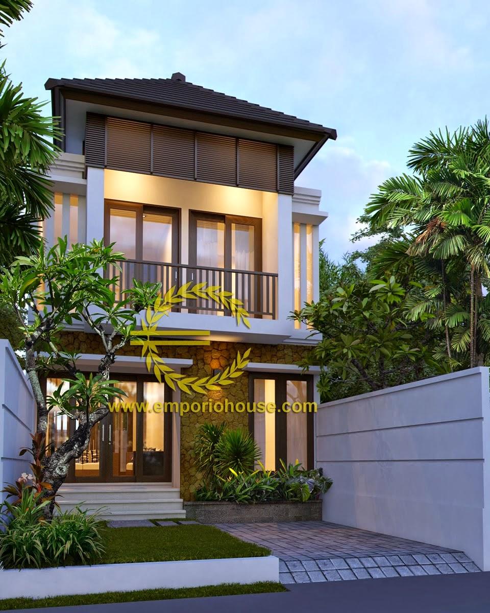 Desain Rumah Minimalis 2 Lantai Lebar 8 Meter