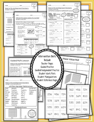 Fourth Grade  Math Texas Test Prep RTI 2 and 3