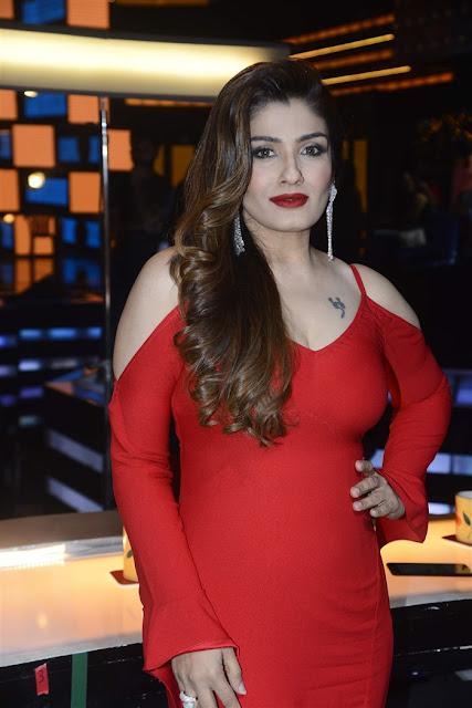 Actress Raveena Tandon Hot In Red Dress Photos 2017 | Actress Raveena Tandon very spicy photos 2017
