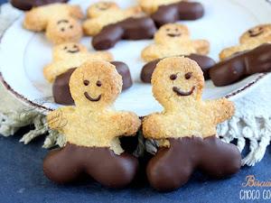 Biscuits croustillants chocolat noix de coco