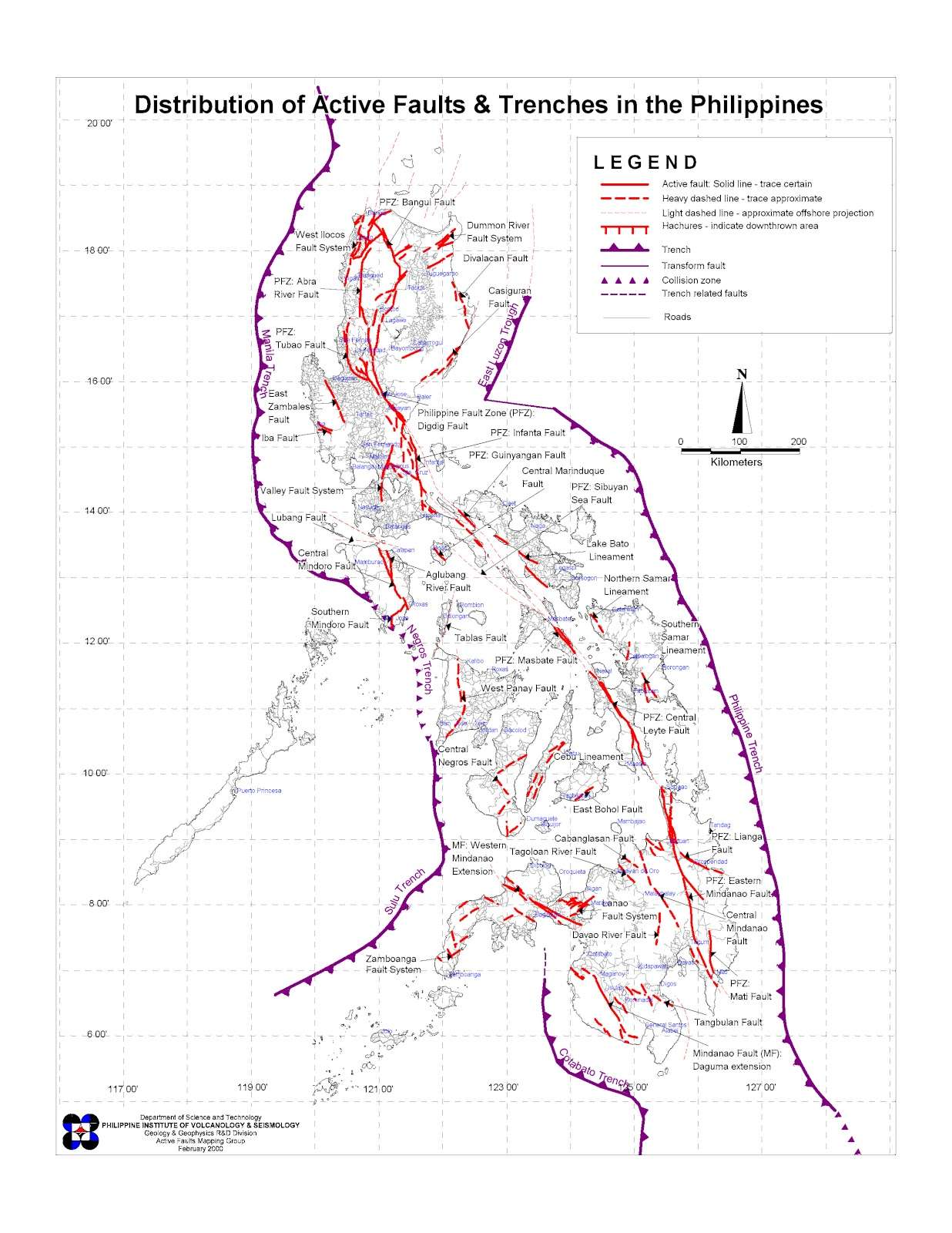 Philippine History Source Materials Active Faults And Trenches In The Philippines
