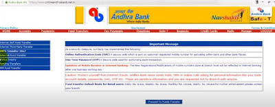5 Best way for: How to transfer money from Andhra bank to SBI through online?