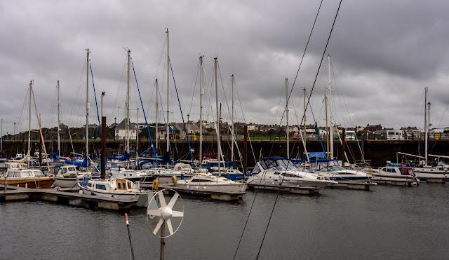 Photo of heavy cloud at Maryport Marina on Wednesday