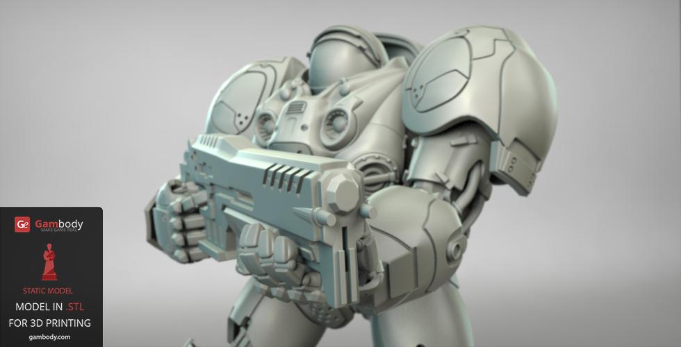 Terran marine model 3D