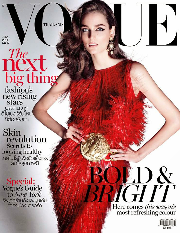 Zuzanna Bijoch covers Vogue Thailand June 2014