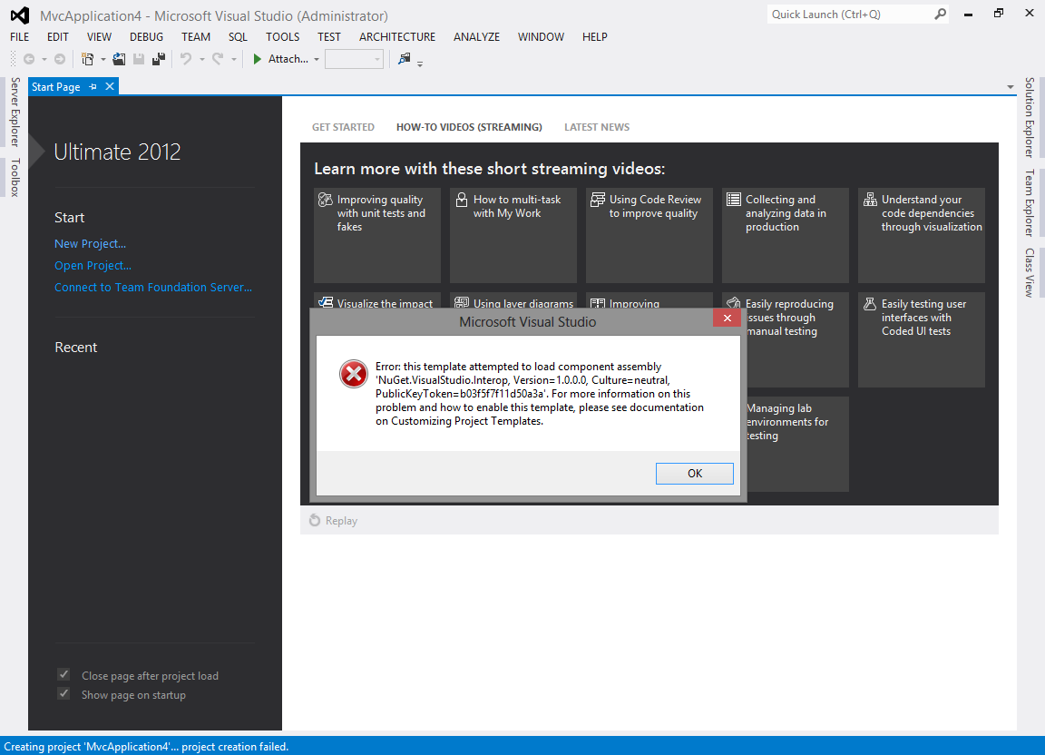Error this template attempted to load component assembly nuget error this template attempted to load component assembly nuget visualstudioerop version cultureneutral publickeytoken maxwellsz