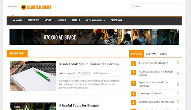 Blanter Craft - Template Blog Responsive