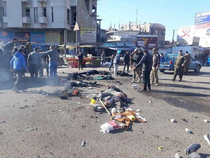 مصادر : 20 شهيدا و43 جريحا في حصيلة غير نهائية للتفجير الانتحاري المزدوج في الباب الشرقي ببغداد