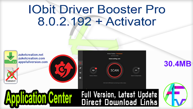 IObit Driver Booster Pro 8.0.2.192 + Activator