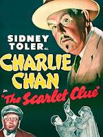 Póster película Charlie Chan en huellas siniestras