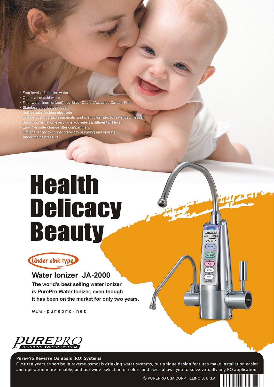 美國 PurePro® 鹼性離子整水器 JA-2000 ★ 喝好水 ! 實現健康長壽 ! 廚下型鹼性離子整水器