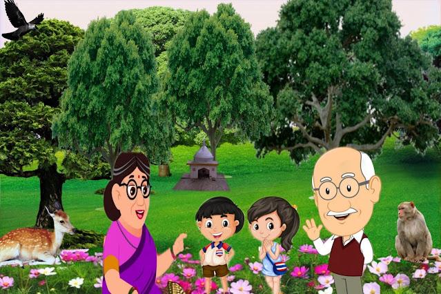 dada, bachche aur sidh baba hindi kahani , दादा , बच्चे और सिद्ध बाबा की कहानी