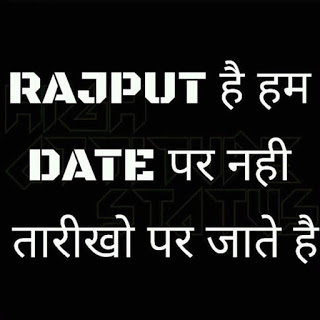 rajput love status