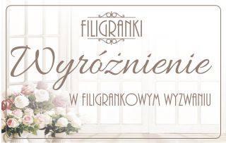 Wyróżnienie w wywaniu sklepu Filigranki