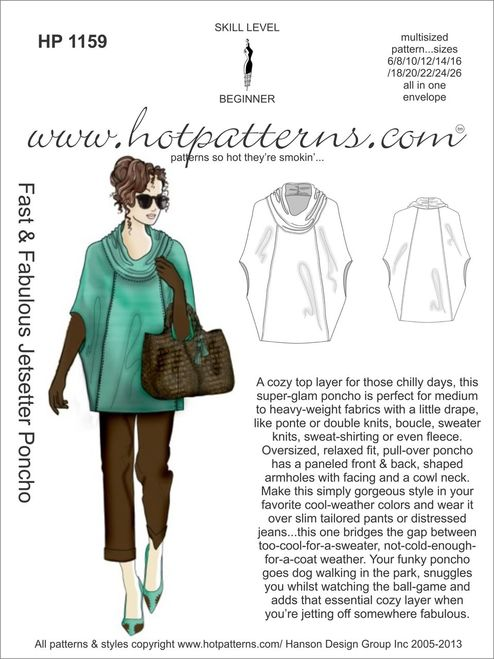 SewPassionista by DIANA: Jetsetter Poncho by Hot Patterns