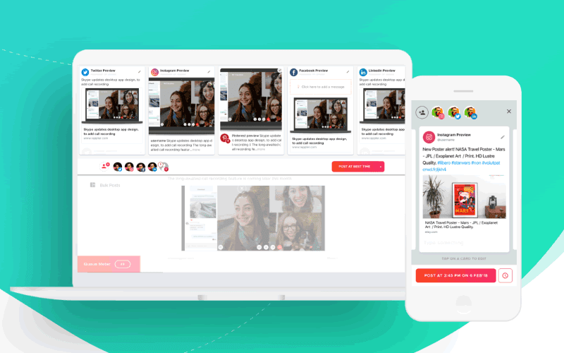 Crowdfire lets you publish content with ease