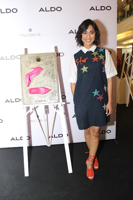 Sayani Gupta gracing her presence at ALDO's _ARTANDSOLES Fall'16 collection at the Palladium