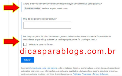 excluir meu blog