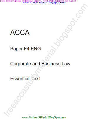 2016-ACCA-F4-Corporate and Business Law-Essential TEXT