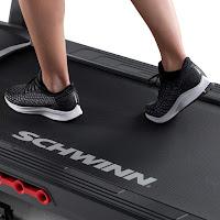 "20"" wide x 55"" long running belt with SoftTrak cushioning system on Schwinn 810 Treadmill, image"
