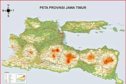 Peta Jawa Timur HD Ukuran Besar Lengkap dan Keterangannya