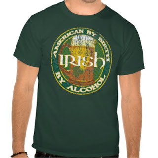 American By Birth, Irish By Alcohol - Funny St Paddys Day T-Shirt