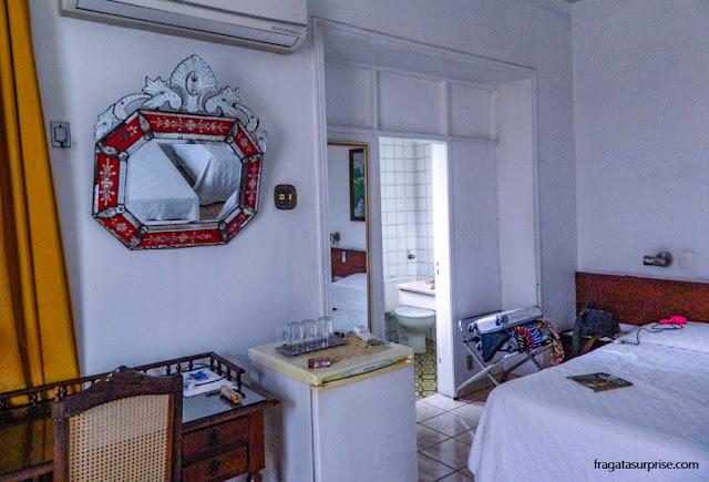 Quarto triplo da Pousada Casa Forte, em Recife