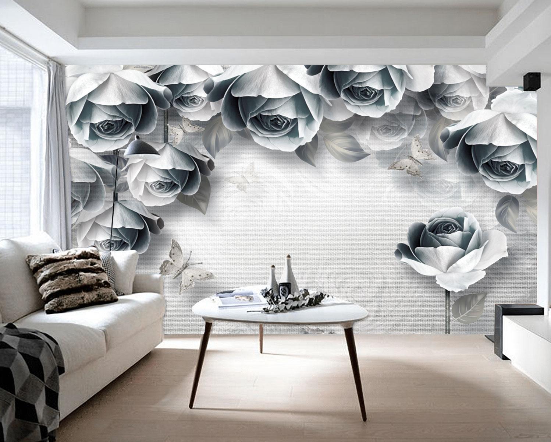 Tranh Dán Tường 3D Hoa Trang Trí Phòng Ngủ Sinh Động