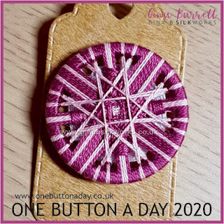 One Button a Day 2020 by Gina Barrett Day 25: Intercross