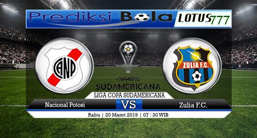 Prediksi Bola Nacional Potosi vs Zulia 20 Maret 2019