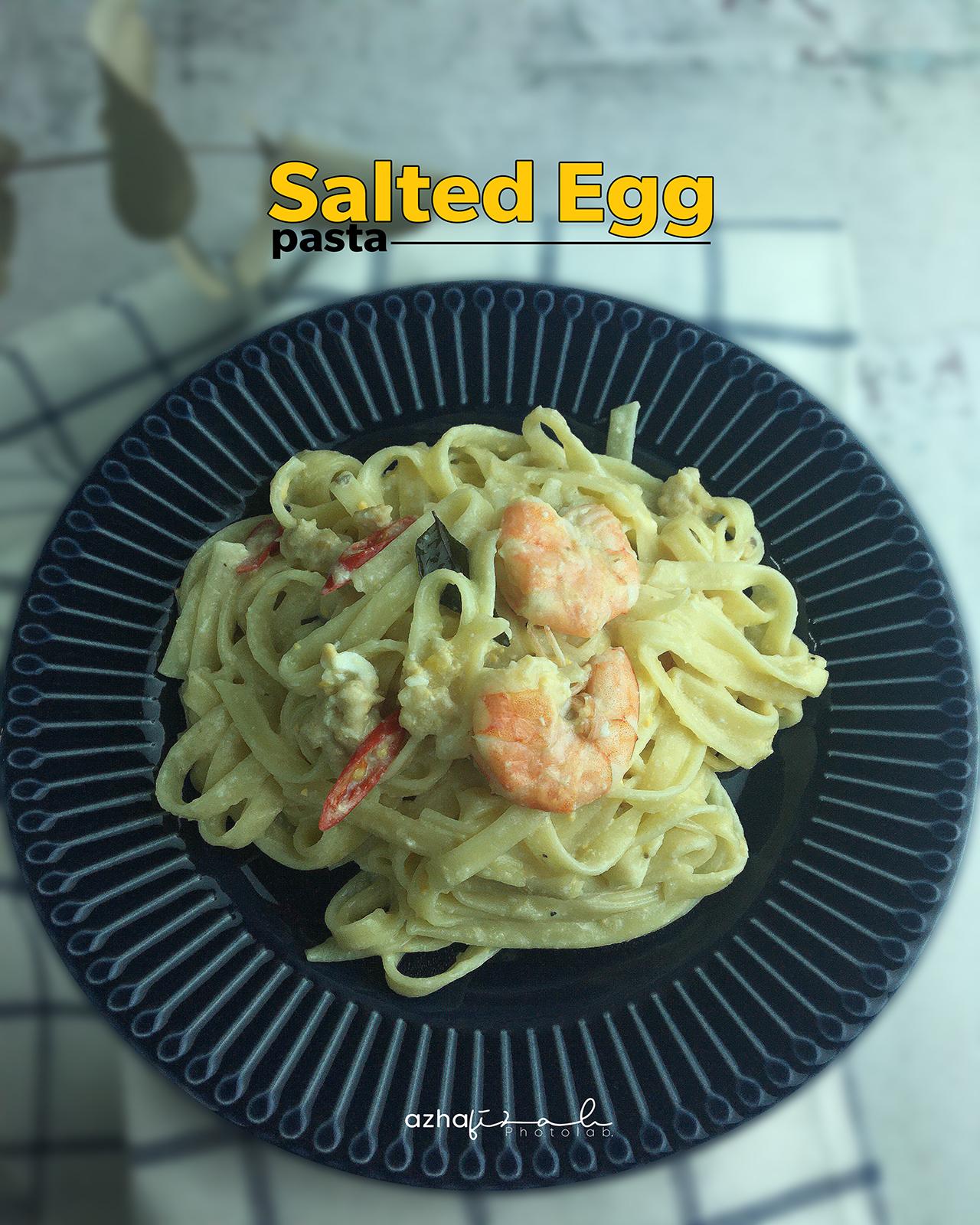 Resepi Creamy Salted Egg Pasta