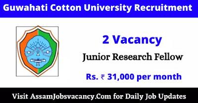 Guwahati Cotton University Recruitment 2021
