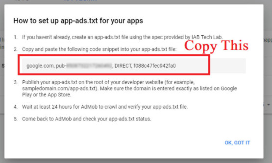 Admob app-ads.txt on Blogger