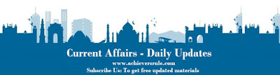 Current Affairs Update 15-16 April 2017