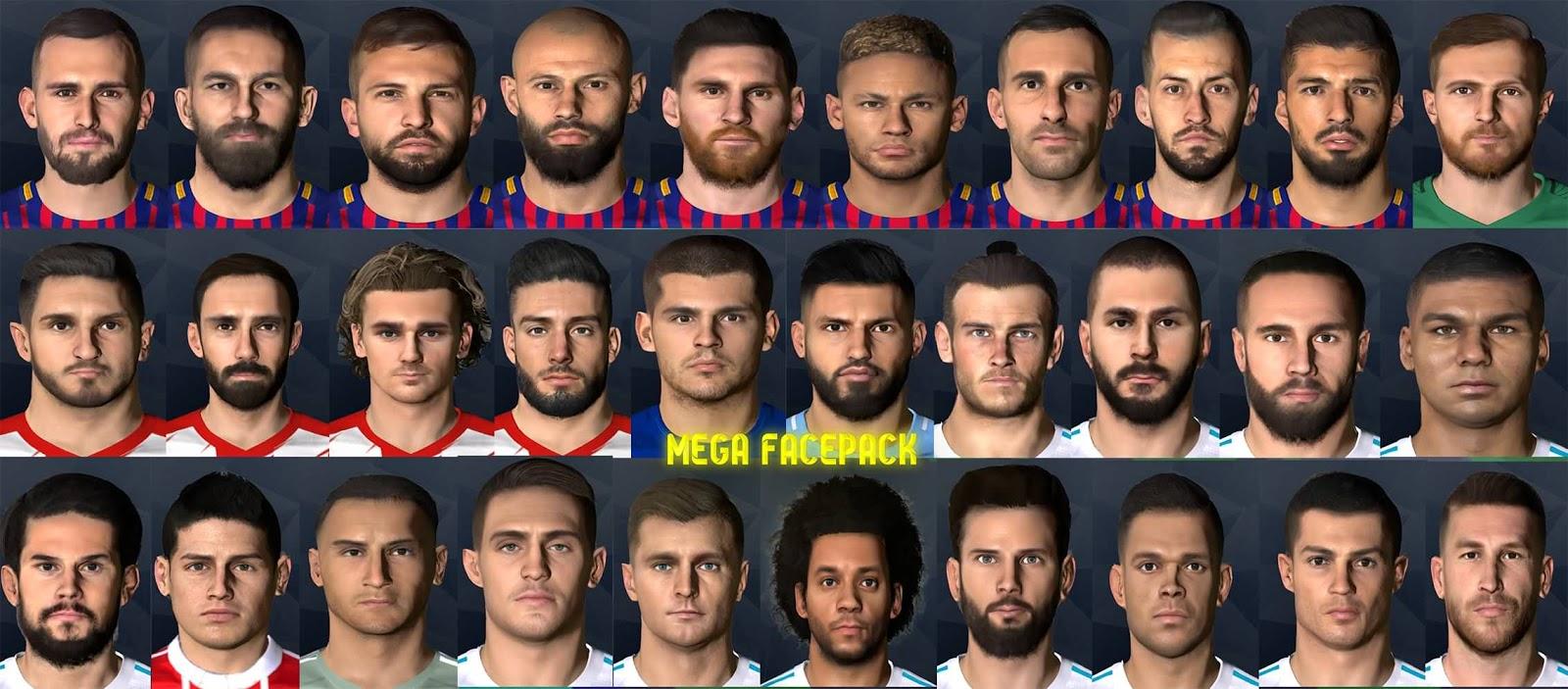 PES 2017 Mega Facepack by Messi Pradeep