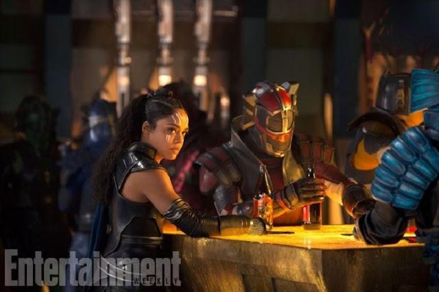 Tessa Thompson como Valquiria en Thor: Ragnarok