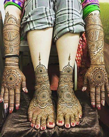 Bridal Mehandi Designs for Hands and Legs 1