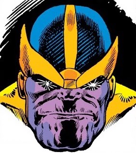 Head shot of Thanos