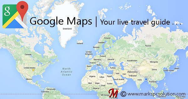 Google Maps showing World Map