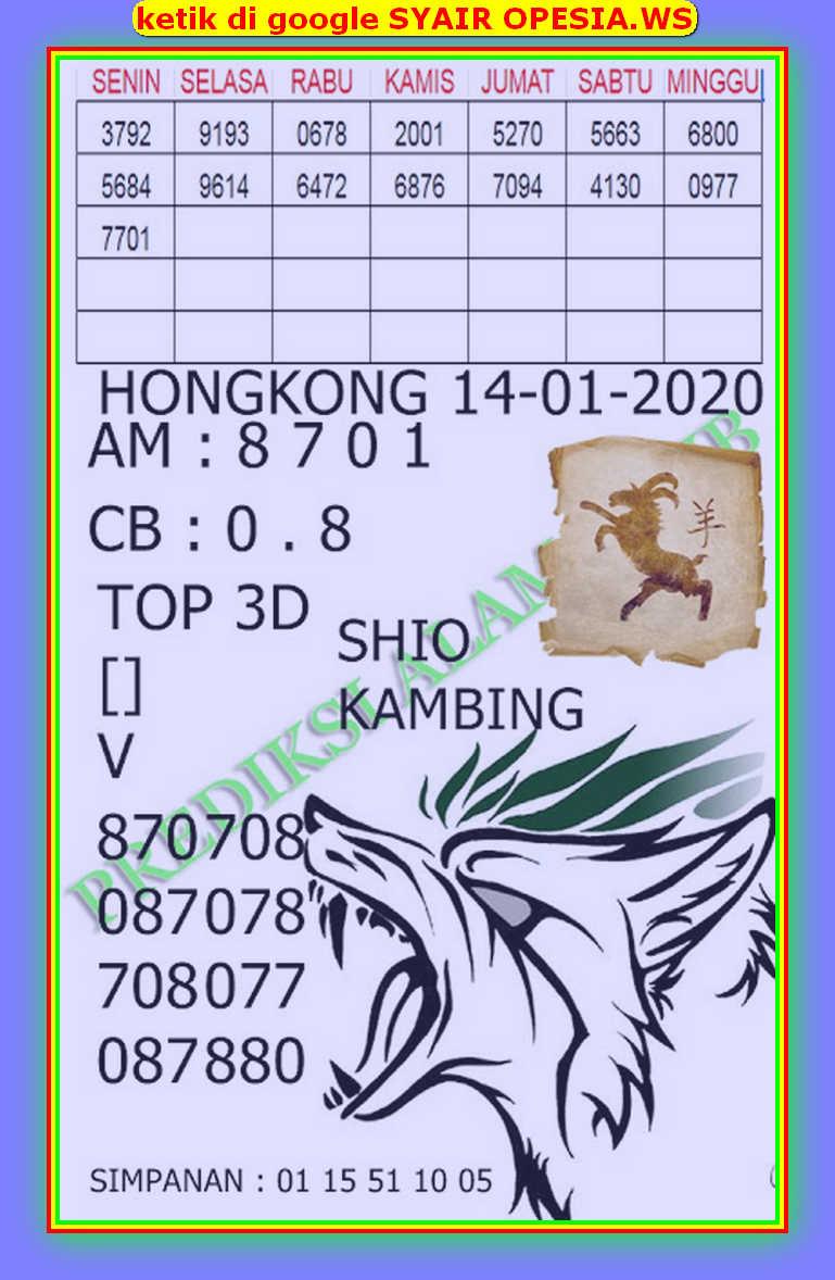 Kode syair Hongkong Selasa 14 Januari 2020 195