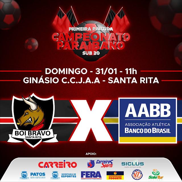 Equipe de Futsal Sub-20 da AABB – Patos-PB, estreia no campeonato paraibano fora de casa